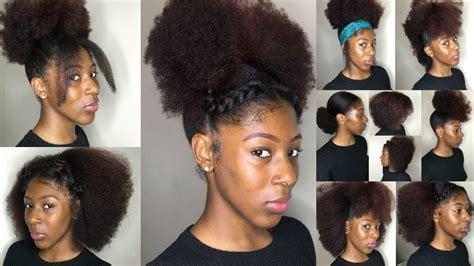 natural hairstyles  black women short medium