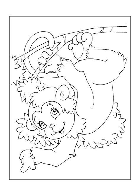 desenhos para imprimir e colorir de macacos