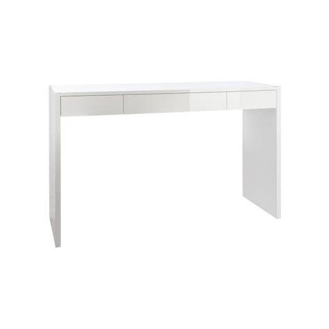 bureau console blanc bureau console laqué blanc moncontainer com