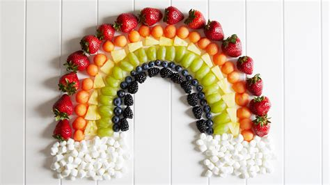 rainbow  fruit plates  cute