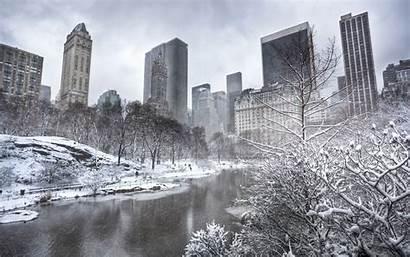 York Central Park Manhattan Winter Wallpapers Background