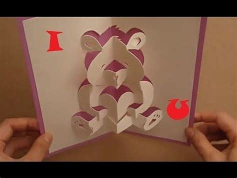 mothers day pop  card tutorial teddy bear  love