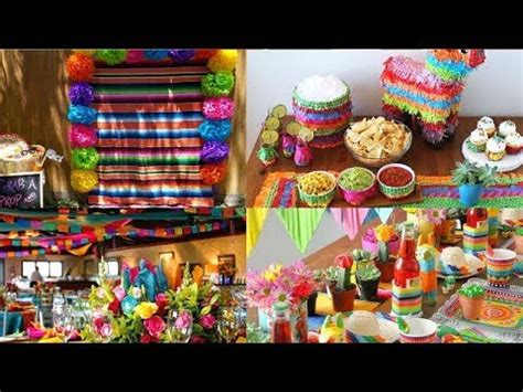 ideas  decoracion de fiesta mexicana cumpleanos