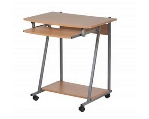 bureau sur roulettes meuble bureau pc informatique sur et tiroir clavier