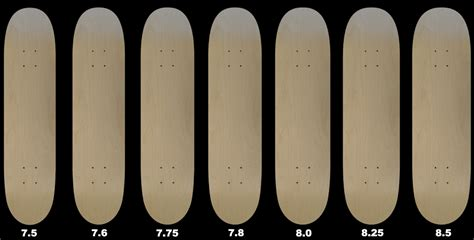 blank skateboard decks