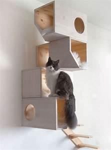 Arbre À Chat Mural : arbre a chat bois design ~ Melissatoandfro.com Idées de Décoration