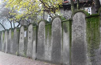 Ghetto Wall Krakow Jewish Fragment Lwowska Poland