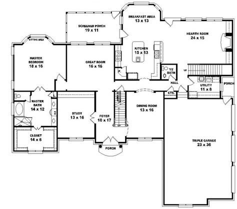 house plans 5 bedrooms 653616 2 style floor plan with 5 bedrooms house plans floor plans home plans