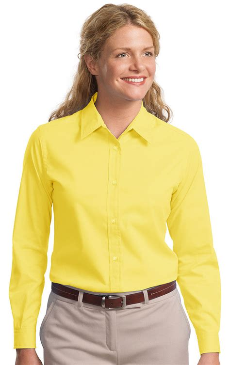 Port Authority Womens Long Sleeve Easy Care Button Front