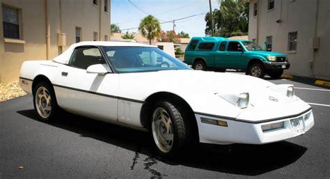 F/s 1989 White Corvette Convertible