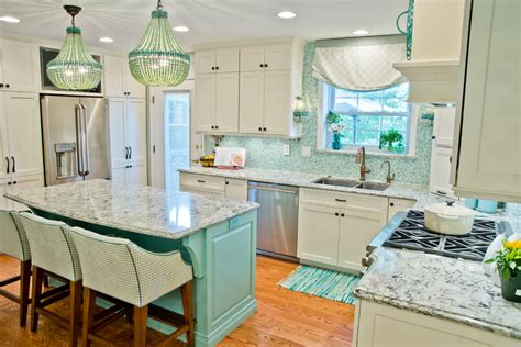aqua kitchen island 100 beautiful kitchens to inspire your kitchen makeover 1326