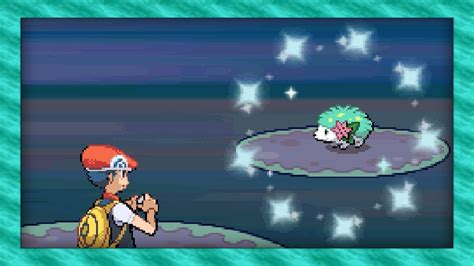 shiny shaymin   run aways pokemon diamond