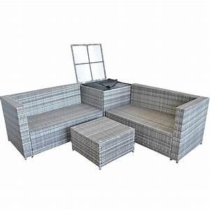 Sitzgarnitur Garten Rattan : xxl polyrattan sitzgruppe auflagenbox garten sofa sitzgarnitur gartenset grau ebay ~ Indierocktalk.com Haus und Dekorationen