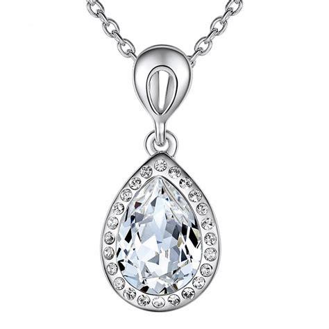 Swarovski Elements Necklace silver swarovski elements drop necklace brandalley