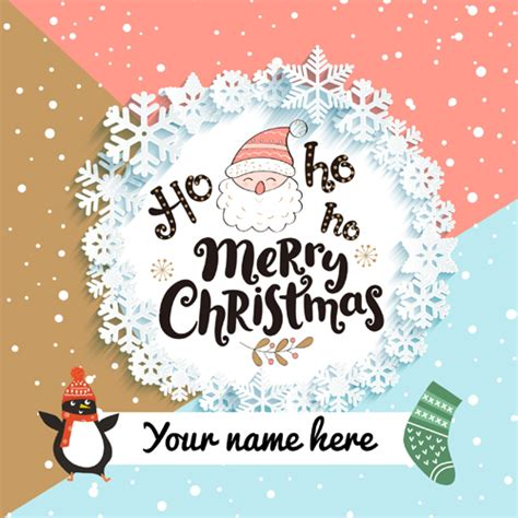 write name merry christmas wishes greetings and pictures