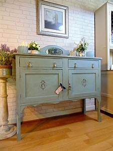 Beautiful, Sideboard, Painted, In, Annie, Sloan, Duck, Egg, Blue, Then, Clear, And, Lightly, Dark, Waxed, A