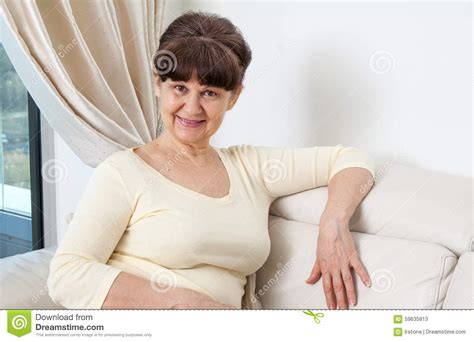 Years Old Good Looking Woman Portrait Domestic