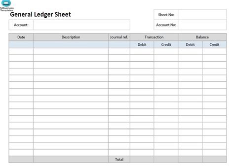 create  ledger paper template excel