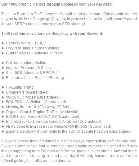 organic traffic from gy guyana with your keyword for 6 seoclerks