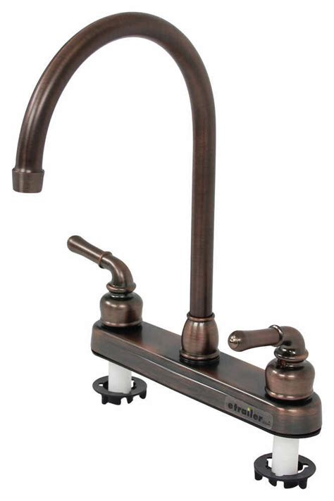 best rv kitchen faucets ultra faucets dual handle rv kitchen faucet rubbed bronze ultra faucets rv faucets 277 000052