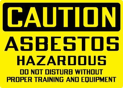 hazardous chemicals  materials sign caution asbestos