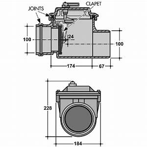 Clapet Anti Retour Wc : clapet anti retour pvc gris 100 mm nicoll cazabox ~ Dailycaller-alerts.com Idées de Décoration
