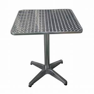 Table Carre Exterieur : table carr bistrot en aluminium tables de jardin tables chaises bancs mobilier de ~ Teatrodelosmanantiales.com Idées de Décoration
