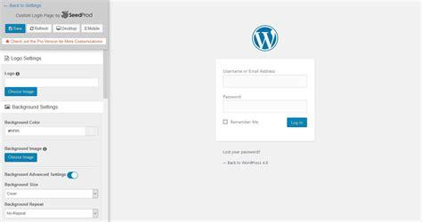 create  wordpress custom login page