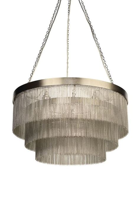 Silver Chain Chandelier silver chain chandelier from tigermoth lighting furnish