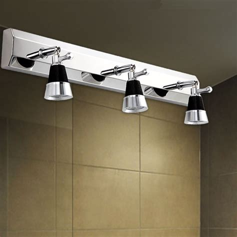 23 Plugs Modern Stainless Steel Bathroom Mirror Lights