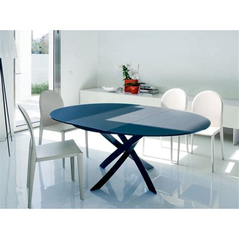 table ronde en verre avec rallonge cobtsa
