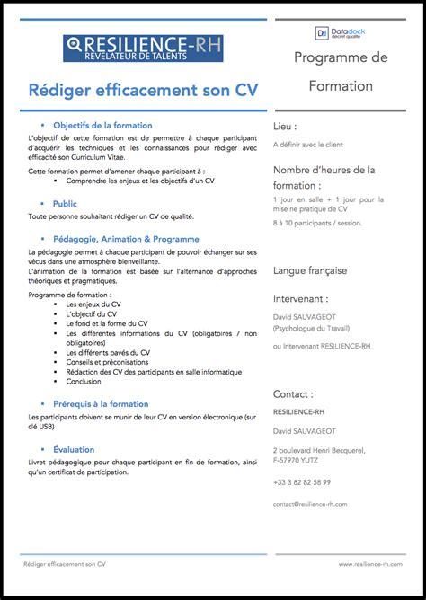 Comment Rediger Cv by R 233 Diger Efficacement Cv
