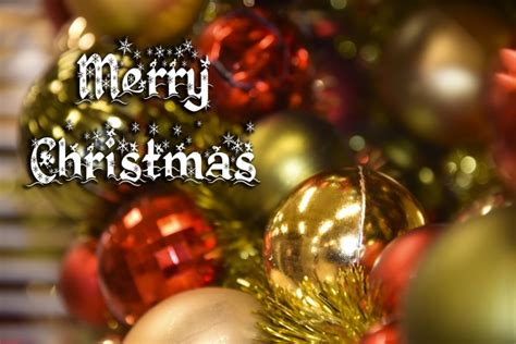 merry christmas greeting  stock photo public domain