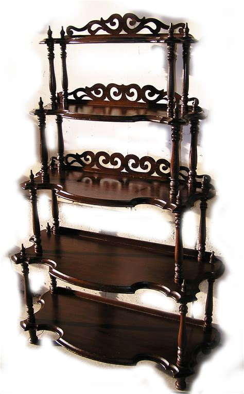 Antique Etagere by Walnut Etagere Waterfall Whatnot C 1870 For Sale