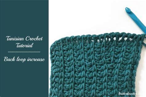 tunisian crochet tutorial  loop increase