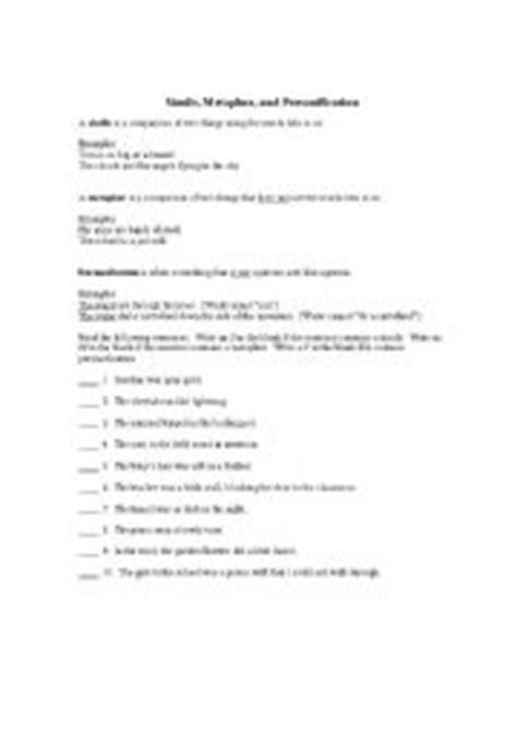 15 Best Images Of Printable Simile Worksheets  Similes And Metaphors Worksheets, Simile And