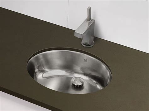 stainless steel undermount bathroom sink decolav stainless steel undermount oval sink brushed