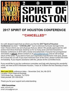 2017 Spirit of Houston Conference (cancelled) – Central ...