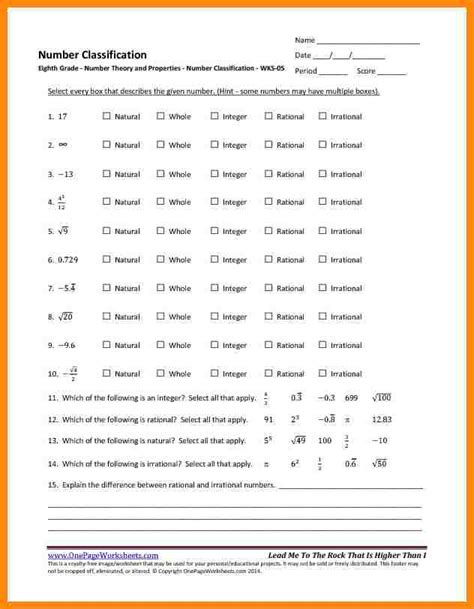 collection of number theory worksheets bluegreenish