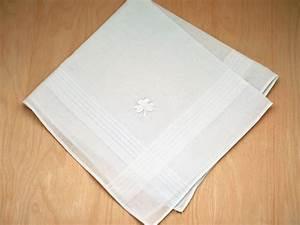 Irish Cotton Mens Handkerchief with Shamrock