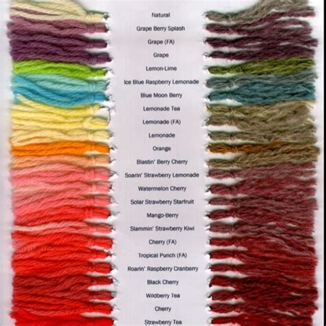 yarn  kool aid color chart craftspiration pinterest