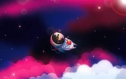 Astronauta Astronaute Pantalla Creative Erizo Fondos Raumfahrer