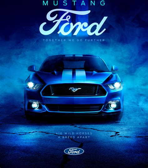 wallpaper ford mustang blue  automotive cars
