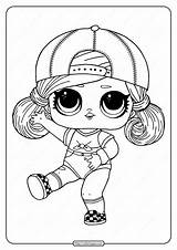 Lol Coloring Pages Surprise Hairgoals Sk8er Grrrl Printable Sister Cartoon Doll Dolls Cute Coloringoo Adult Series Print Halloween sketch template