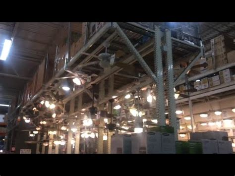 ceiling fans  display  home depot  danvers ma