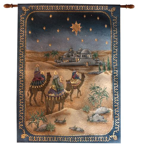 and it came to pass christmas tapestry wall hanging