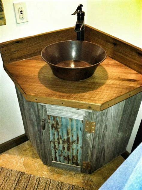 reclaimed barnwood  tin roofingbathroom sink remodel