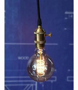 Suspension Noir Et Cuivre : suspension douille cuivre a interrupteur pour ampoule filament edison ~ Teatrodelosmanantiales.com Idées de Décoration