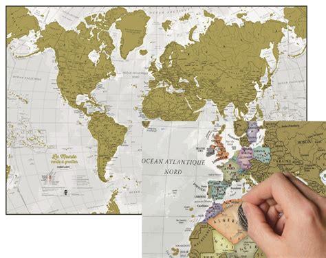 carte monde a gratter maps international carte du monde 224 gratter en fran 231 ais