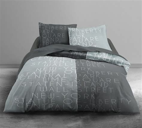 chambre garcon york housse de couette ado adolescent linge de lit housse